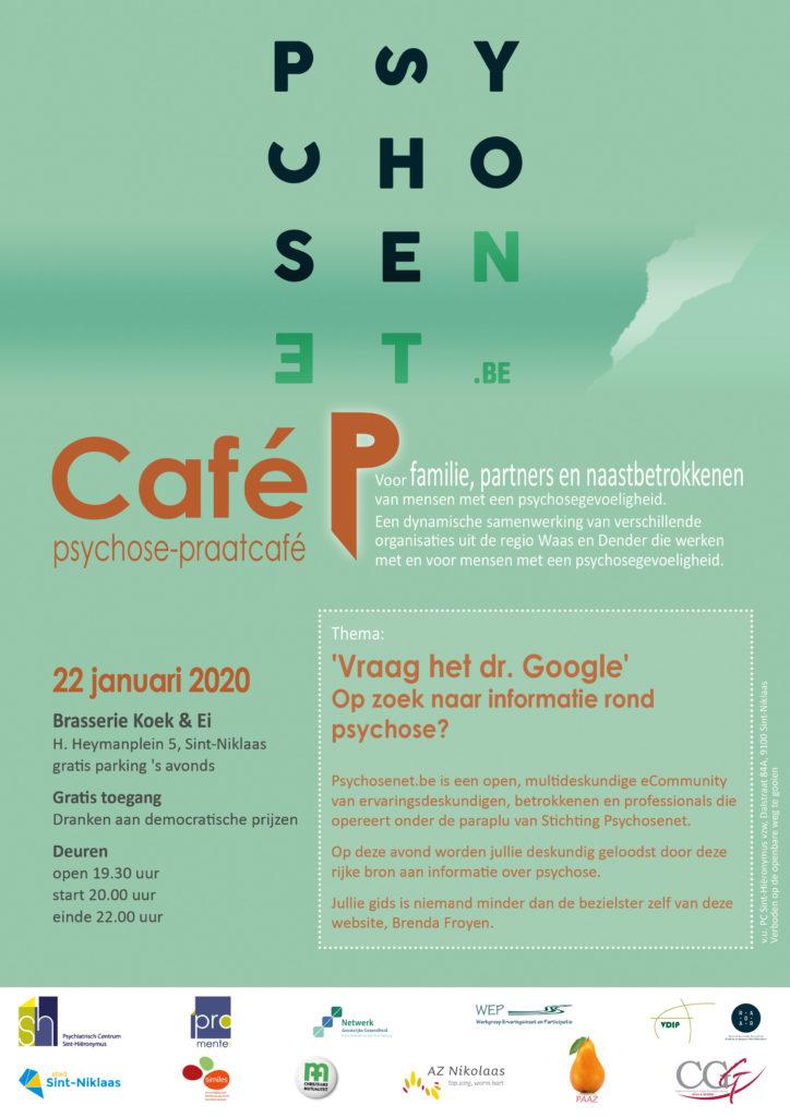 Café P - psychosenet.be met spreker Brenda Froyen @ Koek en Ei